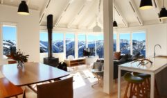 The spectacular panorama from Hotham Heights Chalets.