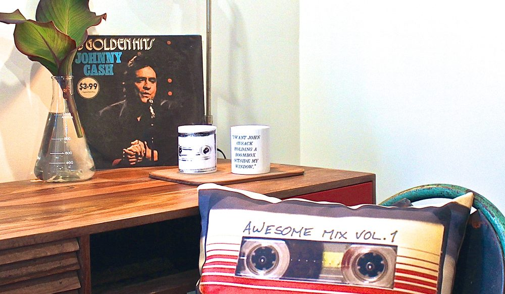 The 'Mix Tape' room, complete with Johnny Cash.
