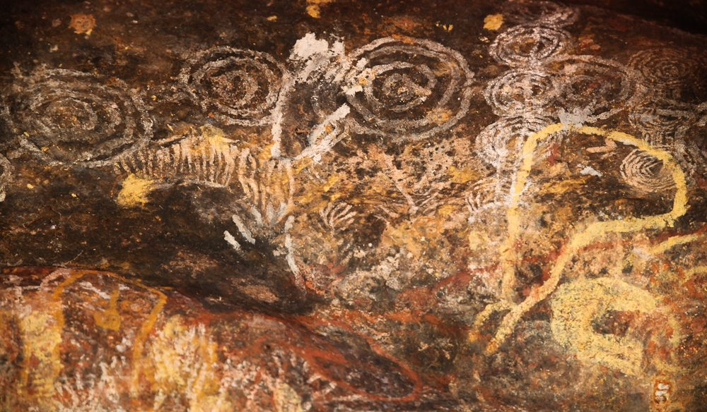 The Uluru area is peppered with rock art oftheAnangu people, which often depicts their Tjukurpa (creation) stories (photo: Steve Madgwick).