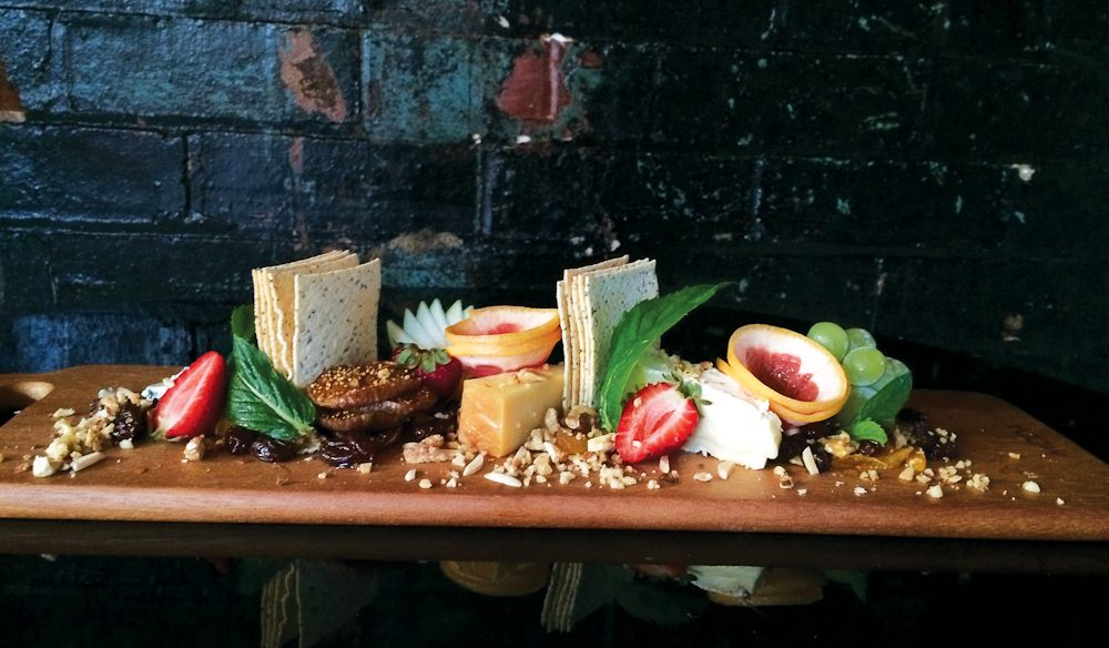It tastes just as good at it looks; a cheese board from Red Baron's.