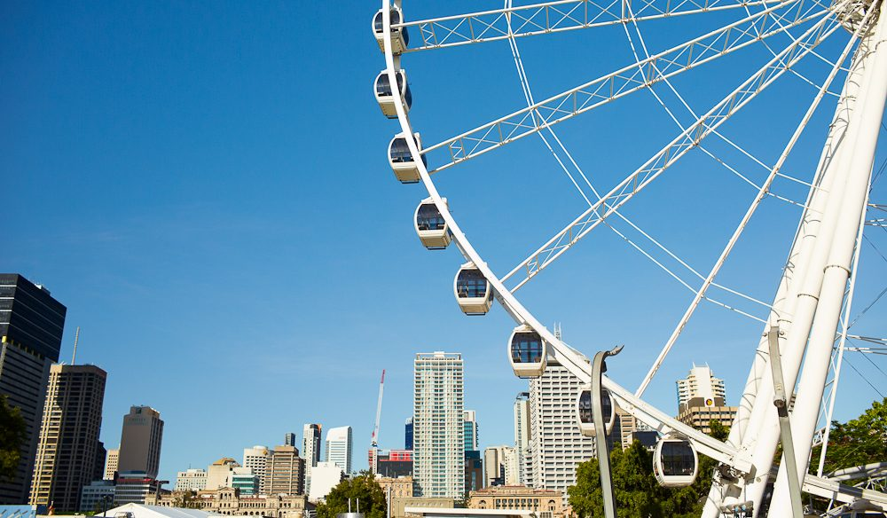 Bird's eye view: The Wheel of Brisbane.