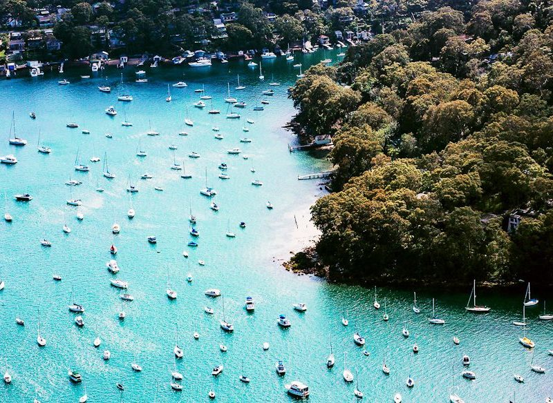 Pittwater Sydney from the air