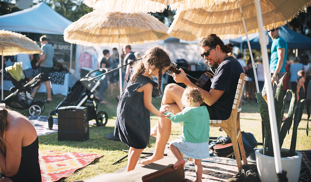 Soaking up the sun at Hunt&Gather Markets (photo:  Joel Alston).