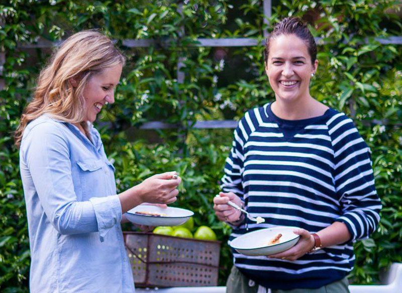 Pie Project authors Phoebe Wood, Kirsten Jenkins