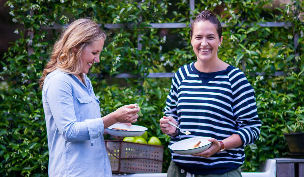 Authors and pie aficionados Phoebe Wood (left) and Kirsten Jenkins (photo: Simon Kelly).