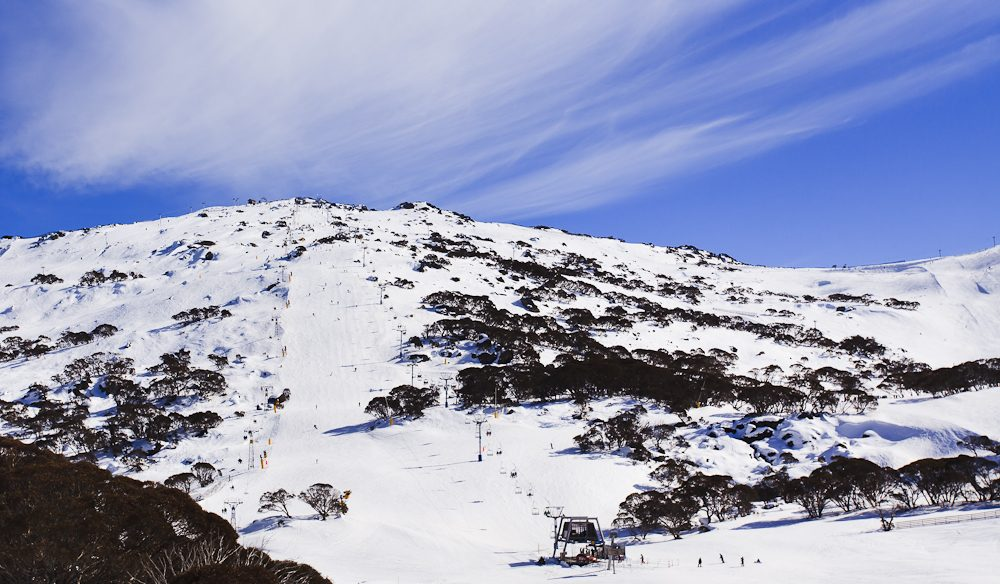 Perisher has a massive ski area to explore.