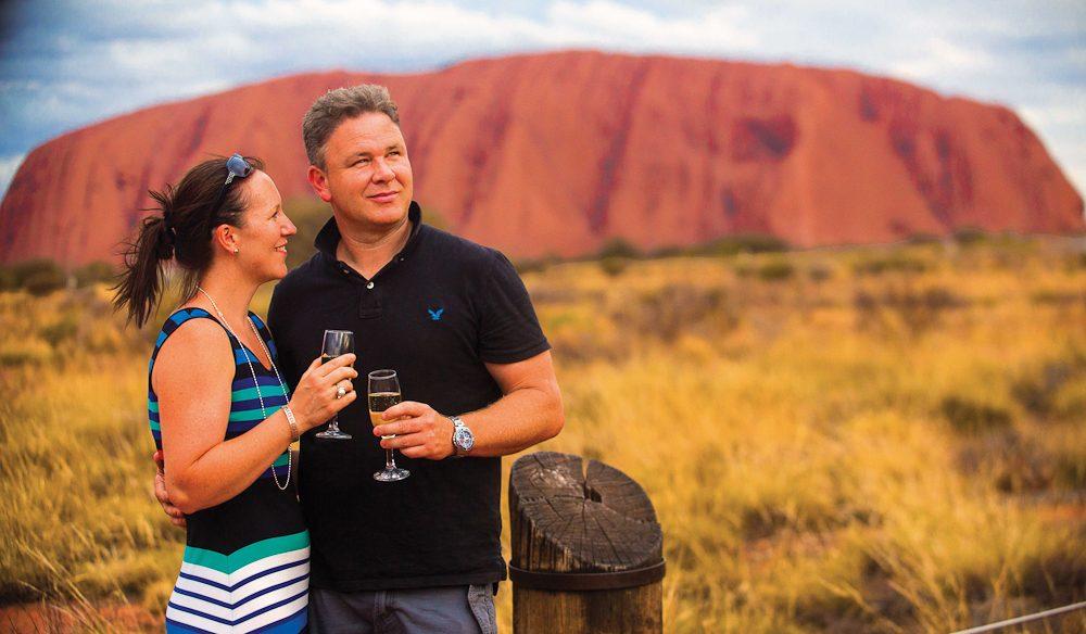 Beautiful Uluru at sunset