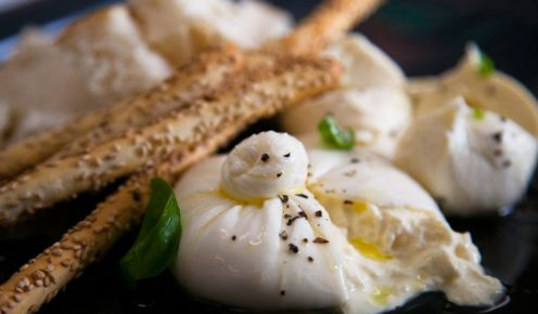 Oozing temptation: burrata from Carlton's La Latteria.