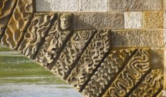 The intricate carvings on Ross Bridge were sculpted by a convict, Daniel Herbert.