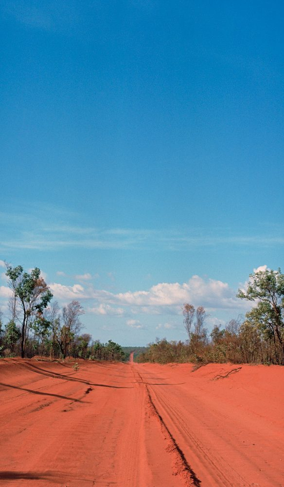 Pindan red dust Cape Leveque road
