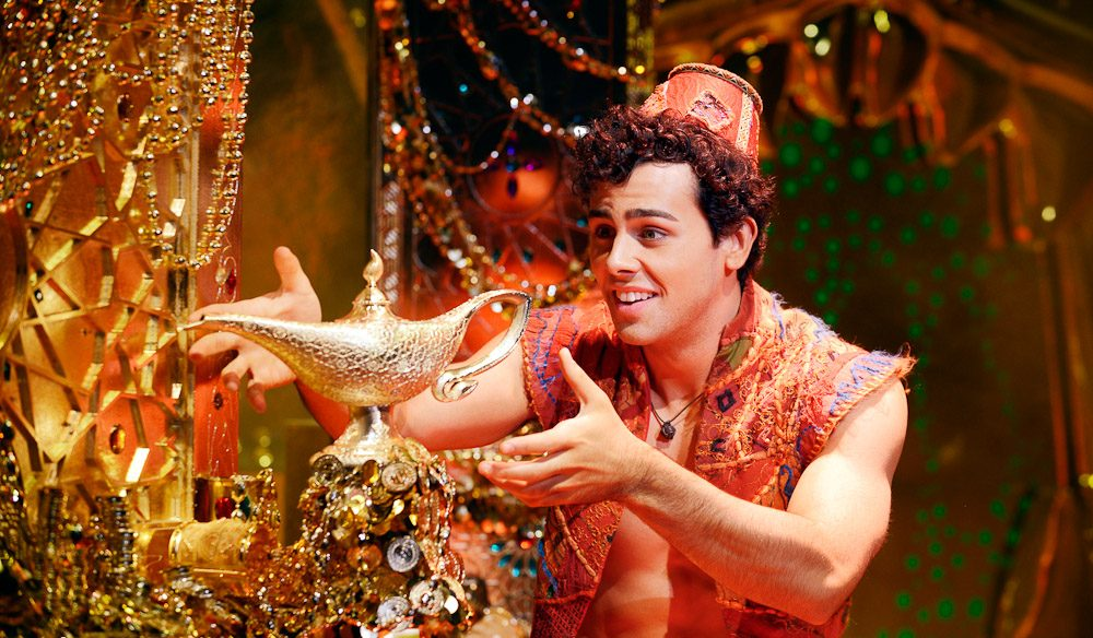 Polished performance: Ainsley Melham, Aladdin The Musical (photo: Deen van Meer).