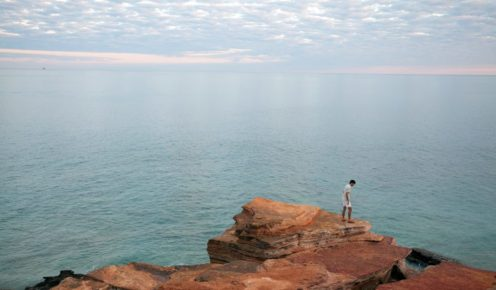 The remarkable red cliffs of Gantheaume Point on the Kimberley coast (photo: James Whineray).