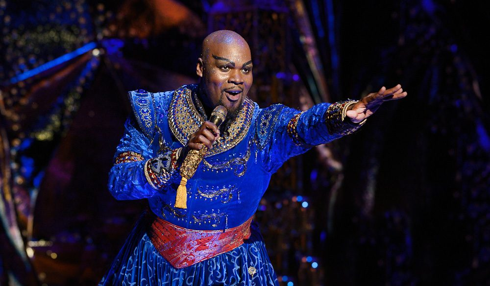 Genie genius:  Michael James Scott - Aladdin the Musical (photo: Deen van Meer).