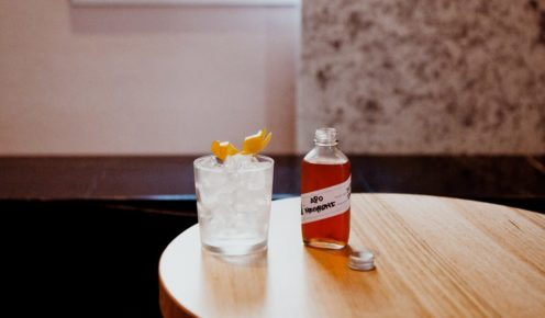 Negroni served in a whimsical bottle, The Apo in Brisbane  (photo: Alicia Taylor).