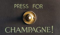 Champagne is just a button away in the bar below the boutique hotel rooms.