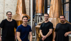 Archie Rose's Will Edwards second from left, with fellow distillers at their Rosebery centre.