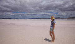 Lake Gairdner is a brilliant desert of white sand (photo: Lara Down).