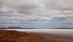 Lake Gairdner's white expanse of salt is breathtaking (photo: Lara Down).