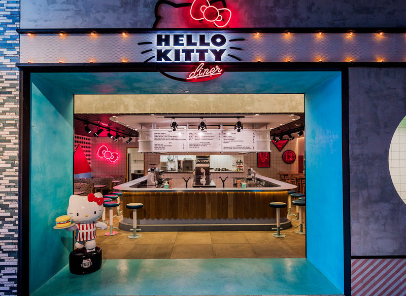 American diner Japanese twist Hello Kitty