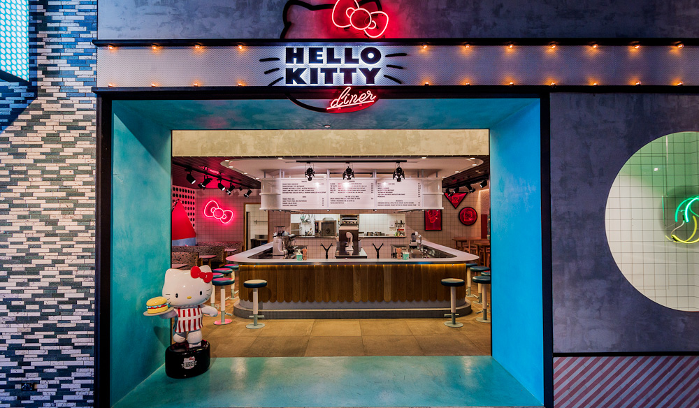 An American diner with a Japanese twist: Hello Kitty Cafe Chatswood (photo: Michael Wee).