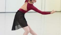 Ako Kondo in rehearsal (photo: Kate Longley).
