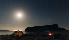 Camping under starlight at the entrance of King George River in the Kimberly (photo: Brook James).