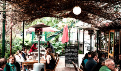 The Hub in Bathurst, has a leafy courtyard which is the perfect spot for a coffee. (photo: Michael Wee).