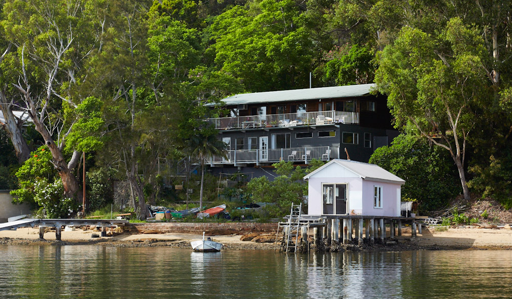 This house on Dangar Island has spectacular views overlooking the Hawkesbury River (photo: Alicia Taylor).
