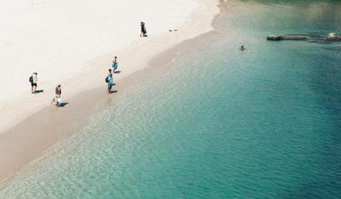 Admiring the Kimberly's pristine white-sand beaches (photo: Brook James).