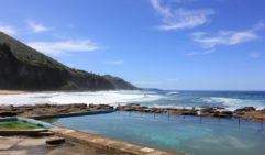 In Wollongong, Coalcliff's glorious pool offers supreme views of the beach (photo: Rachel Bartholomeusz).