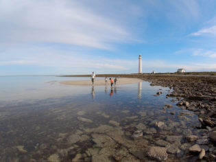 The beautiful Point Lowly Lighthouse at Whyalla