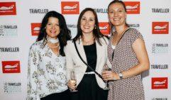 Leanne Fonagy, Megan Booker, Magdalena Lavender (Silversea Cruises).