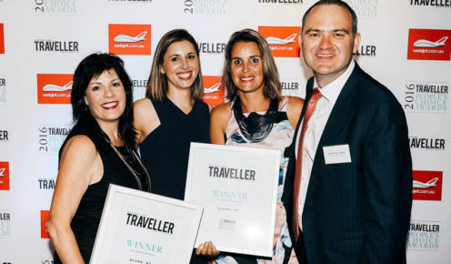 Karena Noble (Voyages), Lara Picone (Australian Traveller), Janneke Leffers (Voyages), Quentin Long (Australian Traveller).
