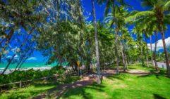 Beautiful Four Mile Beach in Queensland.