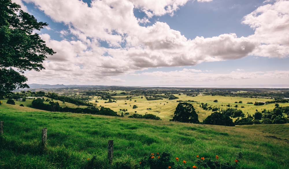 Mullumbimby is a scenic 20 minutes' drive from Byron Bay (photo: Elise Hassey).