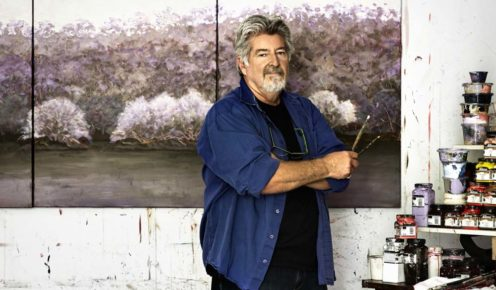 Lake House Daylesford artist in residence; Allan Wolf-Tasker (photo: Sharyn Cairns).
