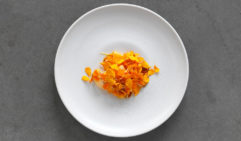 Created by Biota in Bowral: carotene, celeriac and sea urchins.