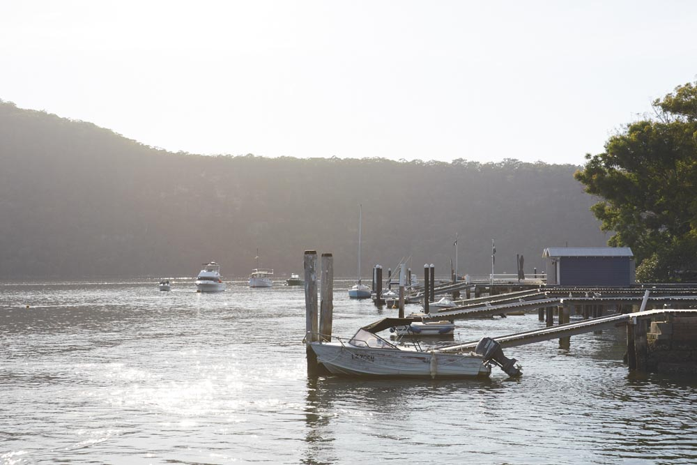 Private jetties line the banks of Dangar Island