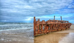 Get your photography into ship shape: Maheno, Fraser Island.