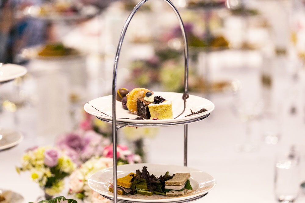 Petit fours for a lavish high tea by Mrs D'Ebro's High Tea in Melbourne.