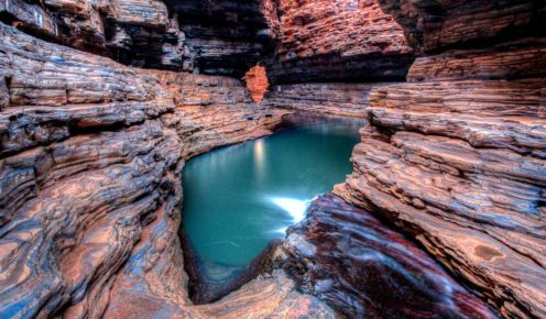 Photographer's dream: Kermit's Pool, Karijini National Park.