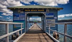 Wharf at Palm Beach in Sydney, it's a quieter alternative to the bustling and better-known Bondi Beach.