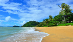 Trinity Beach is just a short trip from the Cairns city centre and is perfect for families.