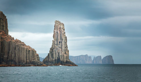 The towering ramparts of Cape Pillar, near Tasman Island, on Tasmania's south-east coast (photo: Nathan Dyer).