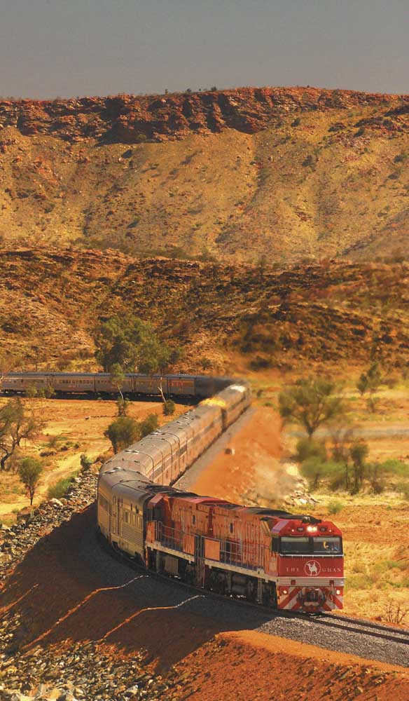 The cameleers were integral to the constuction of the Ghan railway (photo:  Great Southern Rail).