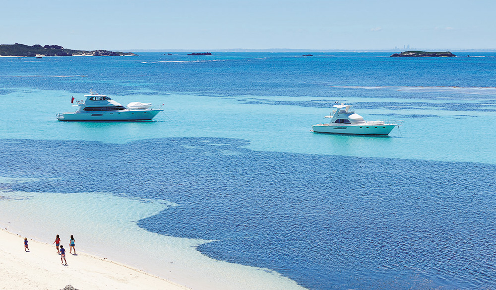 Crystal clear blue waters of Rottnest Island