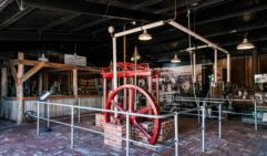 The steam engine at Mannon's PS Marion museum in South Australia (photo: Michael Wee).