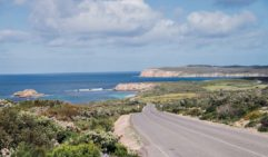 The view from Pondalowie Bay Road toward West Cape, SA (photo: Michael Wee).