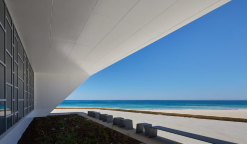 Sleek and modern, the City of Perth SLSC complements the coastal dunes (photo: Douglas Mark Black).