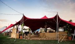 Festival glamping requires your own private bar (Flash Camp, Splendour in the Grass, Byron Bay).